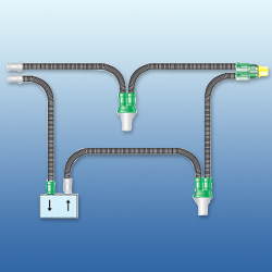 Ventilator Circuit Adult with 2 Water Trap